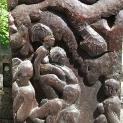 Bois sculpté en ébene COTE D IVOIRE 1937