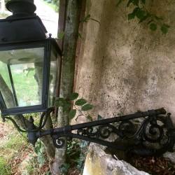 ancienne lanterne d'exterieur, bec de gaz