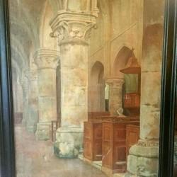 huile sur toile intérieur d'église