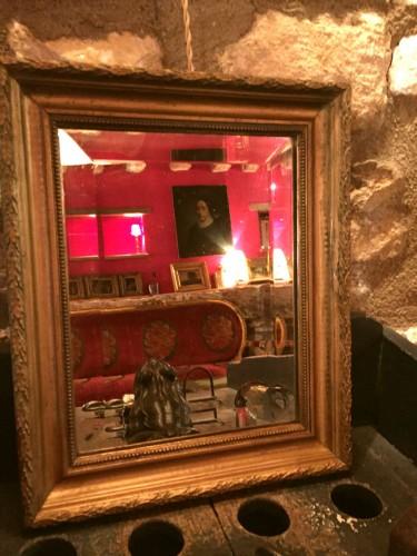 Petit miroir biseaut cadre dor for Petit miroir dore