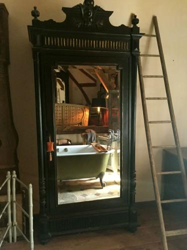 armoire napoleon iii bois noirci. Black Bedroom Furniture Sets. Home Design Ideas