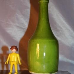 Bouteille céramique signée FD vintage céramiste