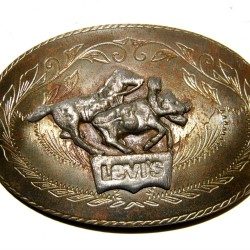 Boucle ceinture JEAN'S LEVIS COW BOY CHEVAL vintage