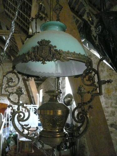Suspension en bronze et opaline