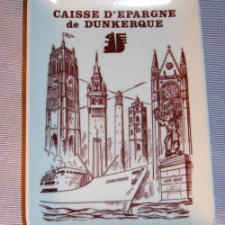 Cendrier publicitaire vide poche jean bart caisse d'épargne Dunkerque