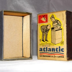 Grande boite d'allumettes ATLANTIC années 60 vintage