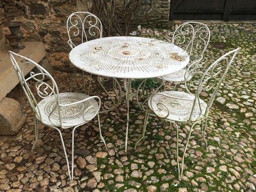 Salon De Jardin Fer Forg Et Mosaique. Free Related Post With Salon ...