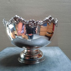 SILVER PLATE PUNCH BOWL PAR WHITBY PLATE WORKS LONDON