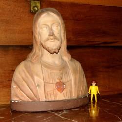 Buste religion sculpture platre signé G MATON antiquité