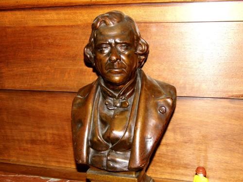 Buste sculpture plâtre signé H DEVILLEZ antiquité