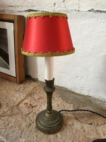 lampe poser ancienne bronze. Black Bedroom Furniture Sets. Home Design Ideas