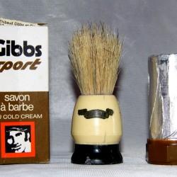 Savon barbe GIBBS Blaireau PLISSON barbier vintage