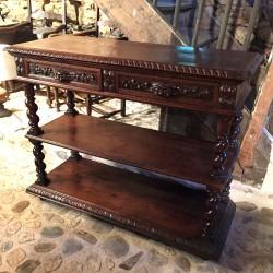 Desserte ou table de présentation de style Louis XIII