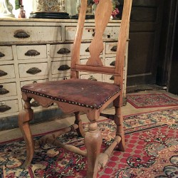 chaise en bois naturel XVIIIe