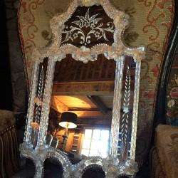 adorable miroir de Murano, Venise, Italie