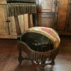 chaise de fumeur style Louis XIII