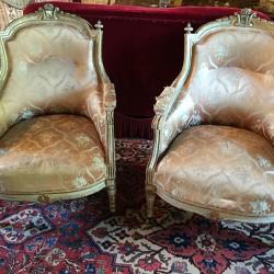 paire de bergères de style Louis XVI
