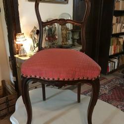 chaise de style rocaille
