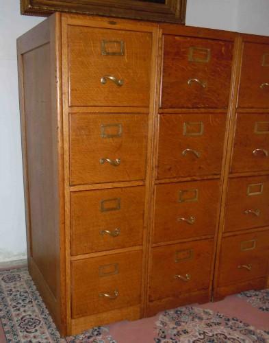 Meuble classeur casier ch ne 12 tiroirs meuble notaire for Meuble classeur tiroir