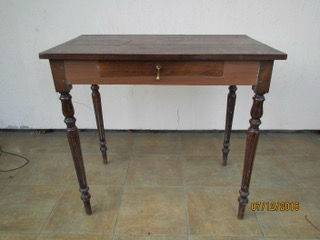ancienne table console petit bureau 1 tiroir. Black Bedroom Furniture Sets. Home Design Ideas
