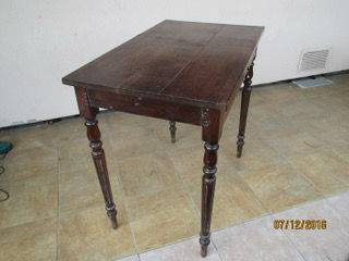 Ancienne Table Console Petit Bureau 1 Tiroir
