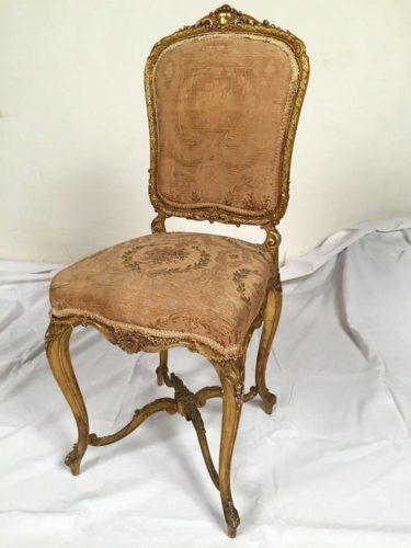 Adorable Iii Petite Bois Chaise En Époque Napoleon Doré 0wnPXk8O