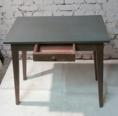 petite table ancienne console critoire bureau d 39 appoint patin e gris. Black Bedroom Furniture Sets. Home Design Ideas