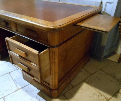bureau ministre a caisson. Black Bedroom Furniture Sets. Home Design Ideas
