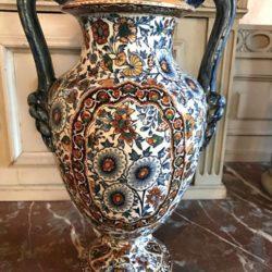 Très beau vase Gien. Fin XIXe