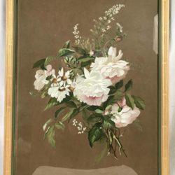 """Très belle gouache """"bouquet de fleurs"""" signée Jeanne Berthe"""