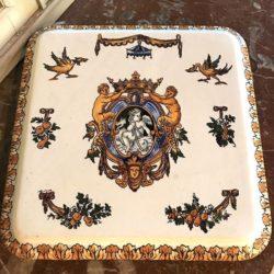 Dessous de plat Gien décor Renaissance, fin XIXe