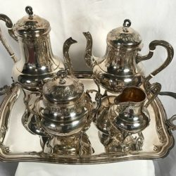 Service à thé et café métal argenté