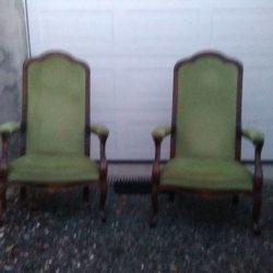 Paire de fauteuil Voltaire style Louis Philippe