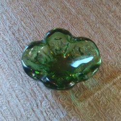 Vide poche en verre soufflé de Murano , années 60