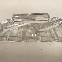 Série de 8 porte-couteaux en cristal