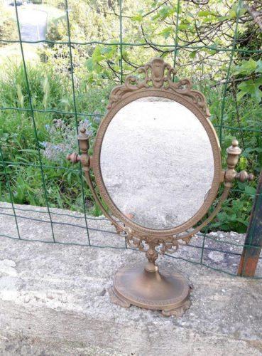 miroir psych de coiffeuse ann es 50. Black Bedroom Furniture Sets. Home Design Ideas