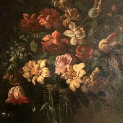 Bouquet de fleurs. HST école française XIXe  dans le goût de Juan De Arellano.