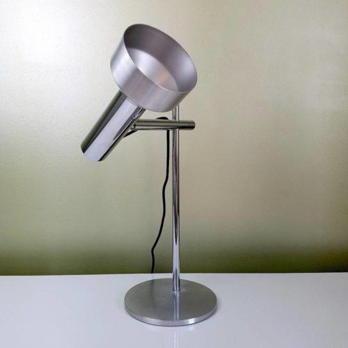 Lampe de bureau articul e chrome et aluminium bross - Lampe bureau articulee ...
