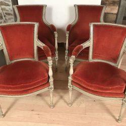 Quatre fauteuils de style Directoire