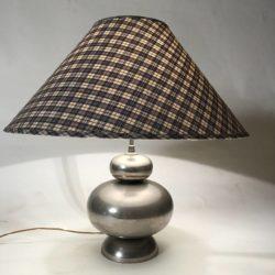 Pied de lampe chromé années 70