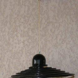 Suspension spirale métal années 70