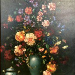 """Grande huile sur toile """"Bouquet de fleurs"""""""