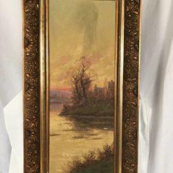 Très belle huile sur toile. Paysage signé Louis Lartigau. XIXe/XXe
