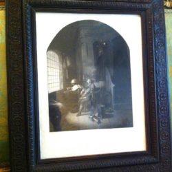 """Gravure d'après une peinture de Gerhard Dow """"Marquis de Stafford"""""""