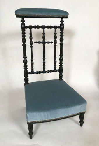 prie dieu napoleon iii bois noirci. Black Bedroom Furniture Sets. Home Design Ideas