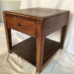 Bout de canapé, meuble d'appoint ancien en bois