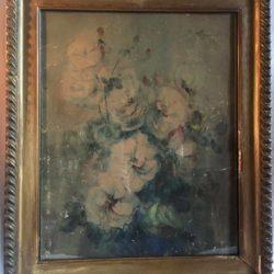 Aquarelle signée Gabriel Chaytlery. Bouquet de fleurs