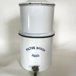 Filtre Buron tôle émaillée, fontaine, filtre à eau