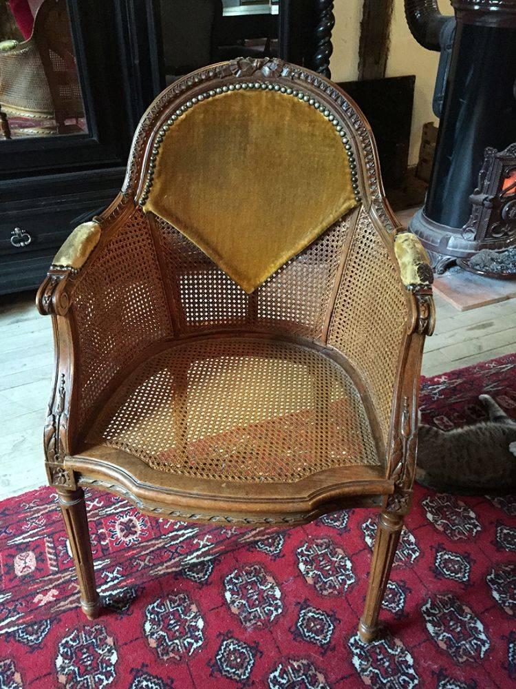 fauteuil de bureau de style louis xvi les brocanteurs. Black Bedroom Furniture Sets. Home Design Ideas