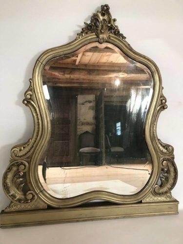 grand miroir biseaut de style louis xv poser. Black Bedroom Furniture Sets. Home Design Ideas